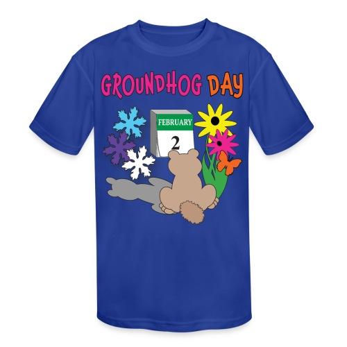 Groundhog Day Dilemma - Kids' Moisture Wicking Performance T-Shirt