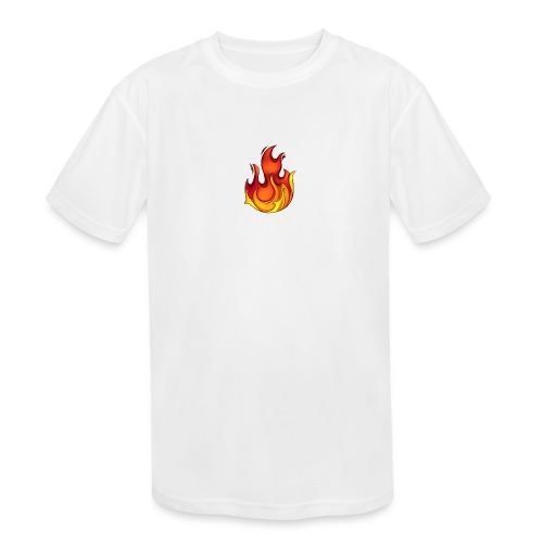 Scorchy White Logo - Kids' Moisture Wicking Performance T-Shirt