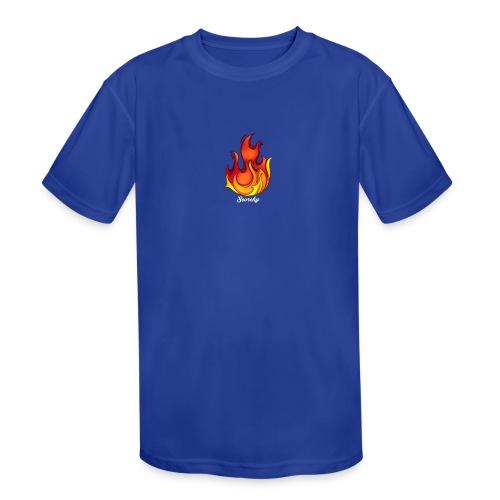 Scorchy White Logo - Kids' Moisture Wicking Performance T-Shirt