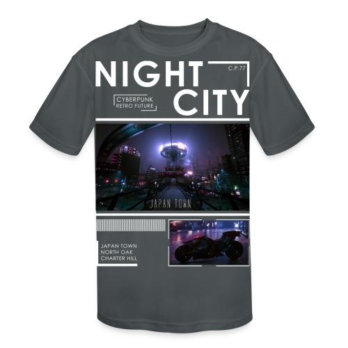 Night City Japan Town - Kids' Moisture Wicking Performance T-Shirt