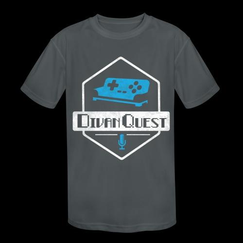DivanQuest Logo (Badge) - Kids' Moisture Wicking Performance T-Shirt