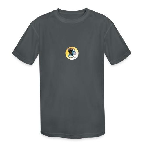 Boxer Rex logo - Kids' Moisture Wicking Performance T-Shirt