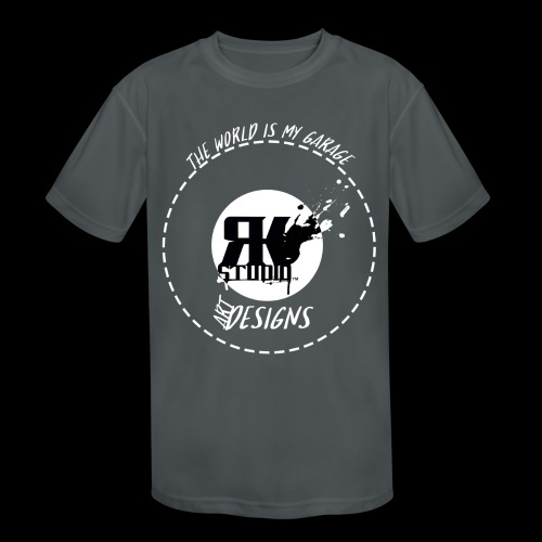 The World is My Garage - Kids' Moisture Wicking Performance T-Shirt