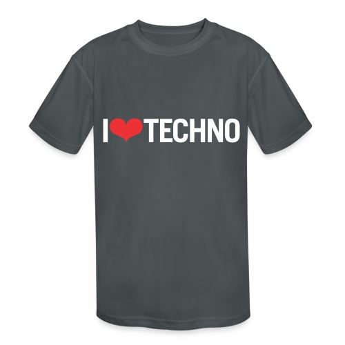 I Love Techno - Kids' Moisture Wicking Performance T-Shirt