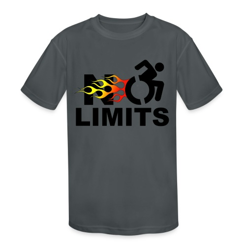 No limits for me with my wheelchair - Kids' Moisture Wicking Performance T-Shirt
