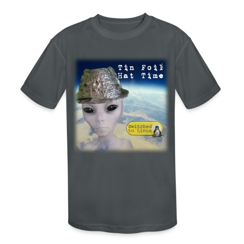 Tin Foil Hat Time (Earth) - Kids' Moisture Wicking Performance T-Shirt