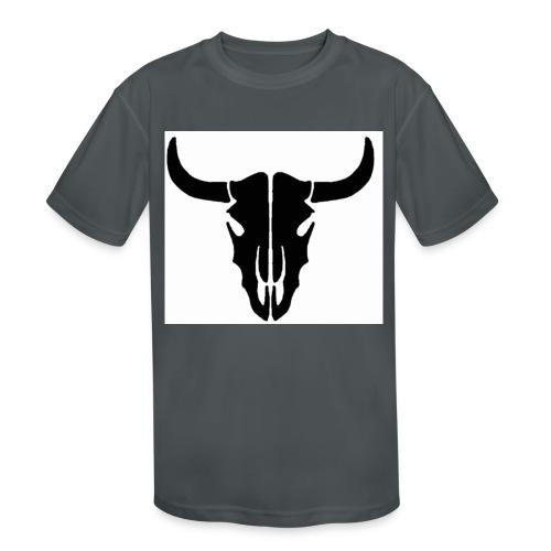 Longhorn skull - Kids' Moisture Wicking Performance T-Shirt