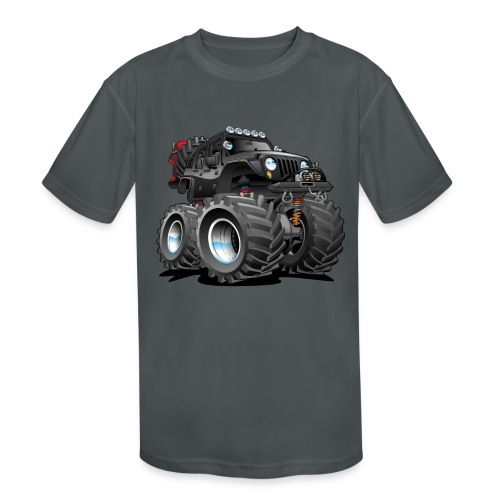 Off road 4x4 black jeeper cartoon - Kids' Moisture Wicking Performance T-Shirt