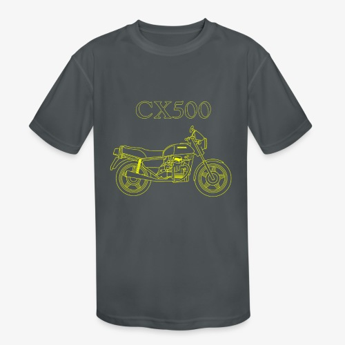 CX500 line drawing - Kids' Moisture Wicking Performance T-Shirt