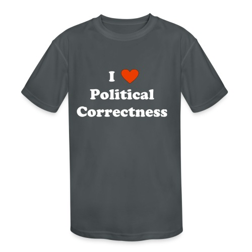 I Heart Political Correctness - Kids' Moisture Wicking Performance T-Shirt