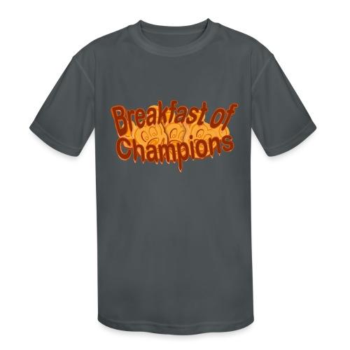 Breakfast of Champions - Kids' Moisture Wicking Performance T-Shirt