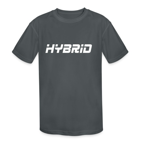 Hybrid Black Hoodie - Kids' Moisture Wicking Performance T-Shirt