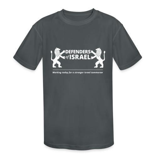 Defenders Of Israel White - Kids' Moisture Wicking Performance T-Shirt