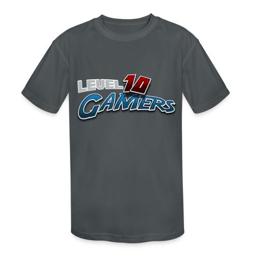 Level10Gamers Logo - Kids' Moisture Wicking Performance T-Shirt