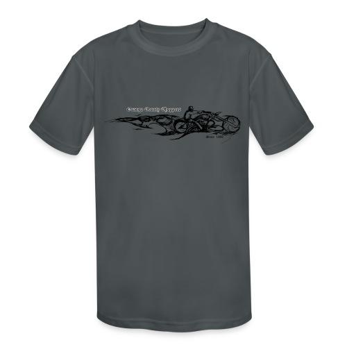 Sketch Rider Front - Kids' Moisture Wicking Performance T-Shirt