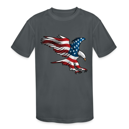 Patriotic American Eagle - Kids' Moisture Wicking Performance T-Shirt