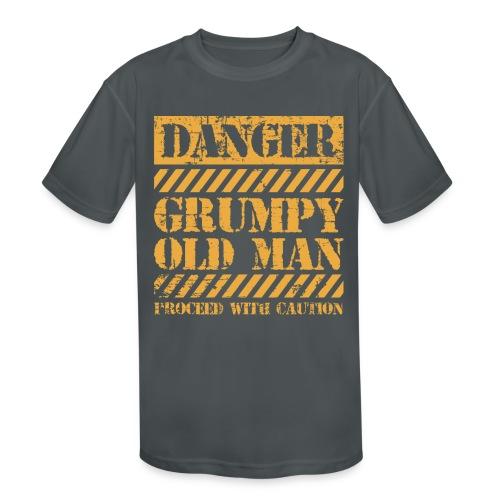 Danger Grumpy Old Man Sarcastic Saying - Kids' Moisture Wicking Performance T-Shirt