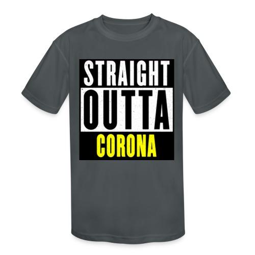 Straight Outta Corona - Kids' Moisture Wicking Performance T-Shirt