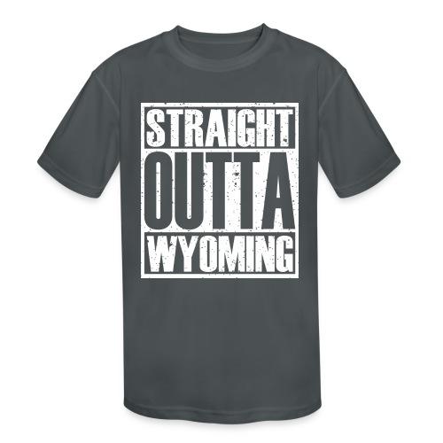 Straight Outta Wyoming - Kids' Moisture Wicking Performance T-Shirt