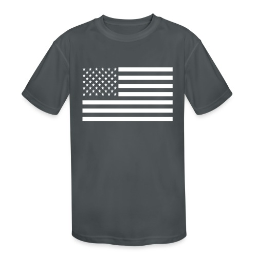 USA American Flag - Kids' Moisture Wicking Performance T-Shirt