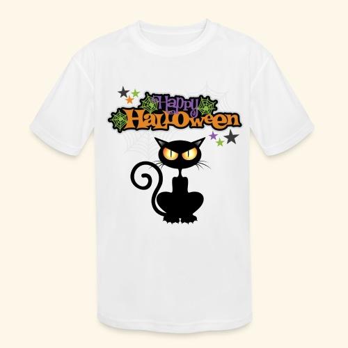 happy holloween BLACCK CAT TEE - Kids' Moisture Wicking Performance T-Shirt