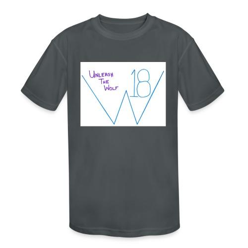 Wolfy 18 Unleash the Wolf t-shirt - Kids' Moisture Wicking Performance T-Shirt