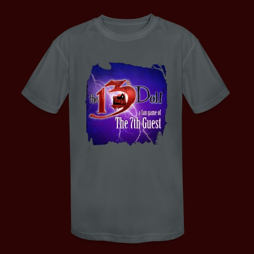 The 13th Doll Logo With Lightning - Kids' Moisture Wicking Performance T-Shirt