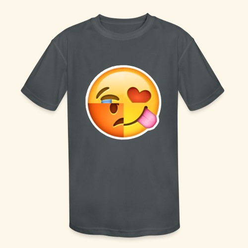 E Tees , Unique , Love , Cry, angry - Kids' Moisture Wicking Performance T-Shirt
