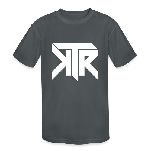 KTR Logo White - Kids' Moisture Wicking Performance T-Shirt