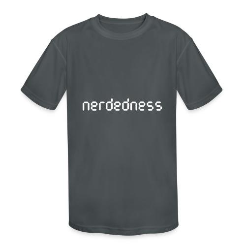 nerdedness segment text logo - Kids' Moisture Wicking Performance T-Shirt