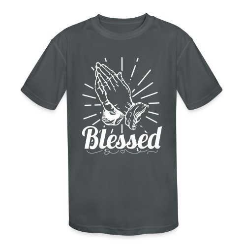 Blessed (White Letters) - Kids' Moisture Wicking Performance T-Shirt