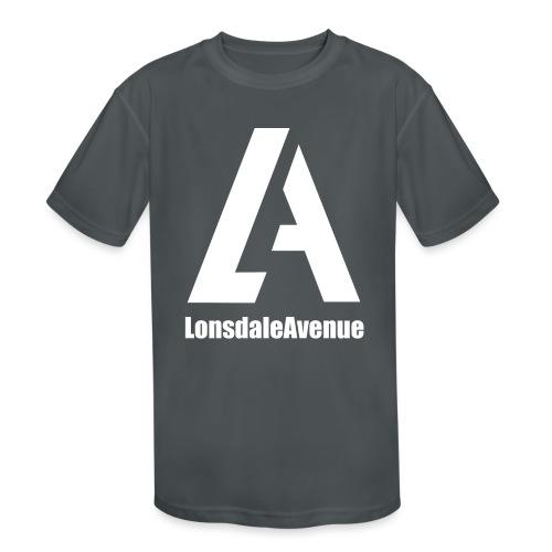 Lonsdale Avenue Logo White Text - Kids' Moisture Wicking Performance T-Shirt