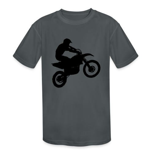 Motocross Dirt biker - Kids' Moisture Wicking Performance T-Shirt