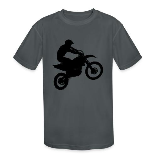 Motocross Dirt biker - Kids' Moisture Wicking Performance T-Shirt