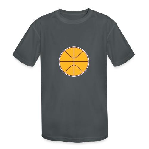 Basketball purple and gold - Kids' Moisture Wicking Performance T-Shirt