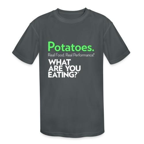 Potatoes. Real Food. Real Performance. - Kids' Moisture Wicking Performance T-Shirt