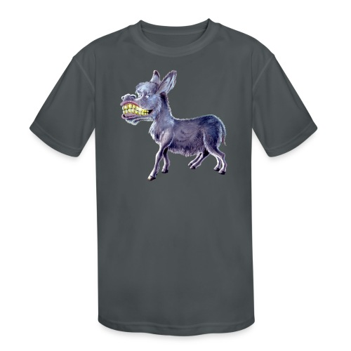 Funny Keep Smiling Donkey - Kids' Moisture Wicking Performance T-Shirt