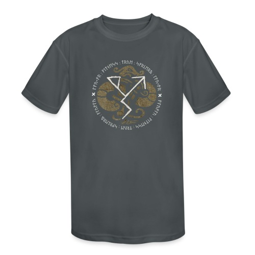Witness True Sorcery Emblem (Alu, Alu laukaR!) - Kids' Moisture Wicking Performance T-Shirt