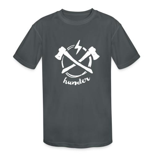 woodchipper back - Kids' Moisture Wicking Performance T-Shirt