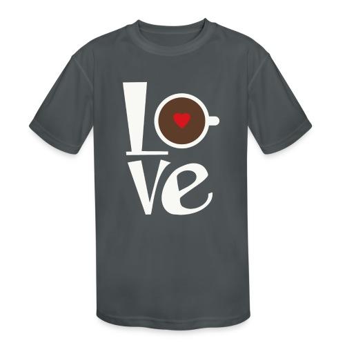 Love Coffee - Kids' Moisture Wicking Performance T-Shirt
