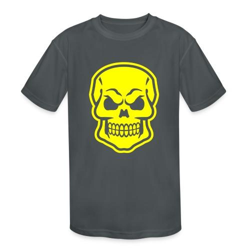 Skull vector yellow - Kids' Moisture Wicking Performance T-Shirt