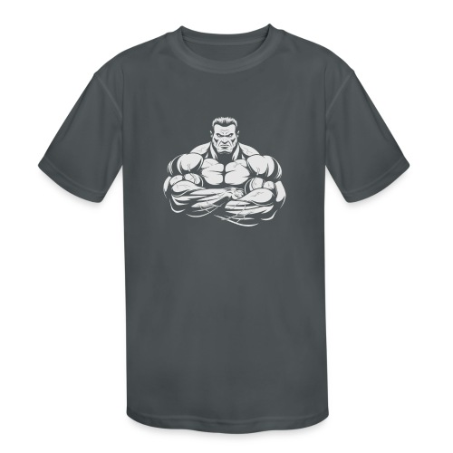 An Angry Bodybuilding Coach - Kids' Moisture Wicking Performance T-Shirt