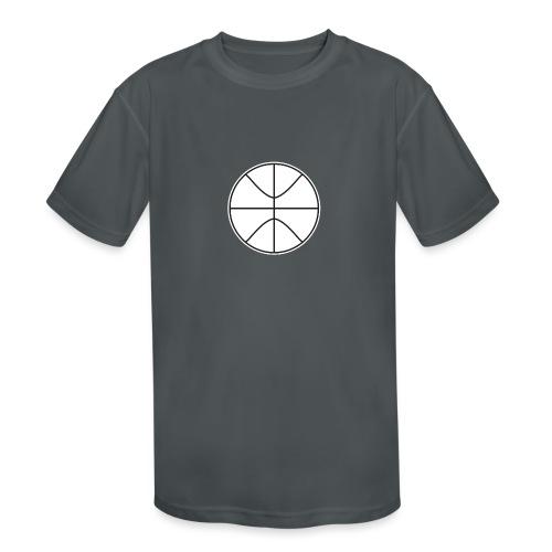 Basketball black and white - Kids' Moisture Wicking Performance T-Shirt