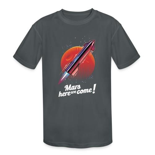 Mars Here We Come - Dark - Kids' Moisture Wicking Performance T-Shirt