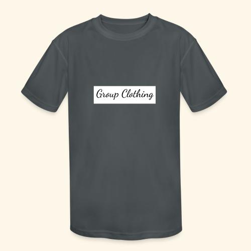 Cursive Black and White Hoodie - Kids' Moisture Wicking Performance T-Shirt