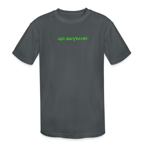 Go Skydive T-shirt/Book Skydive - Kids' Moisture Wicking Performance T-Shirt