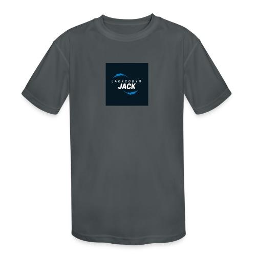 JackCodyH blue lightning bolt - Kids' Moisture Wicking Performance T-Shirt