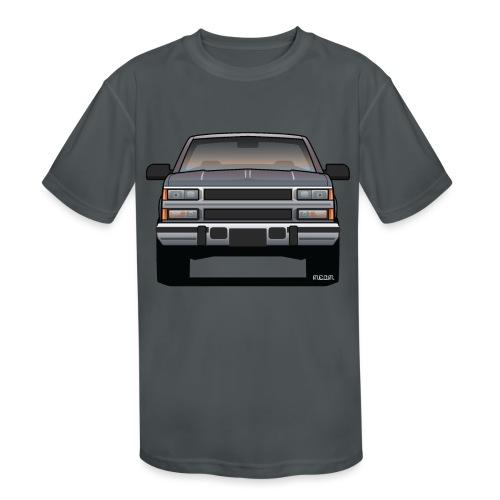 Design Icon: American Bowtie Silver Urban Truck - Kids' Moisture Wicking Performance T-Shirt