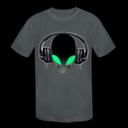 Alien Music Lover DJ (Simplified Fit All Design) - Kids' Moisture Wicking Performance T-Shirt