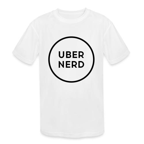 uber nerd logo - Kids' Moisture Wicking Performance T-Shirt